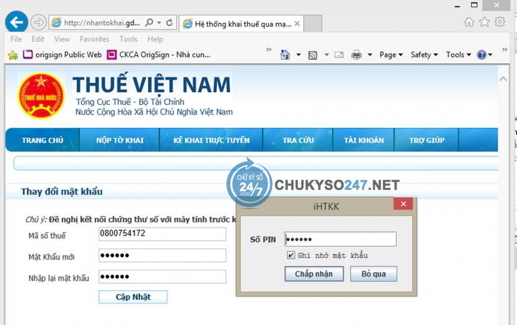 Lấy lại mật khẩu kê khai thuê qua mạng chukyso247.net