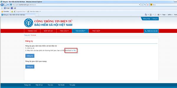 hiển thị màn hình đăng ký